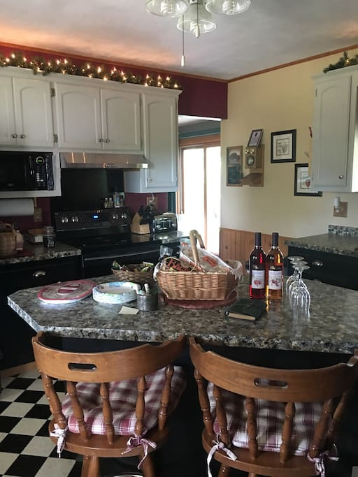 Kitchen ready for guests