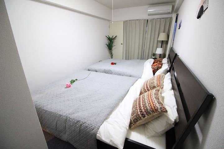 15min Tokyo sta. 3 beds ★Free/wifi - Chūō-ku - Appartement