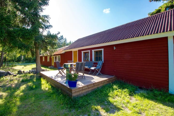 Sauna apartment also have balcony and grill