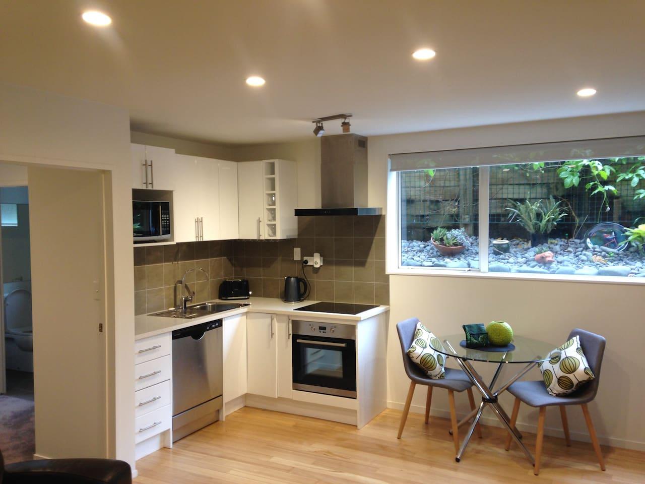 Kitchen, dining, window