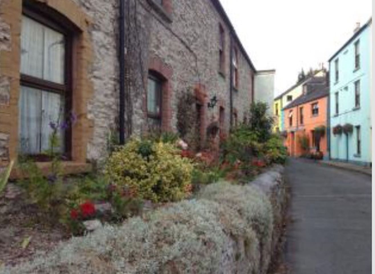 A view down the village - a mixture of old and new