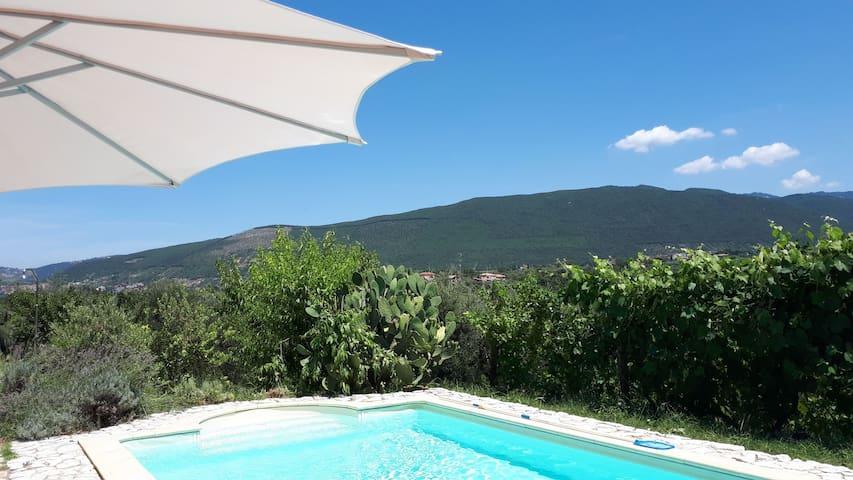 Villa con piscina in uliveto.
