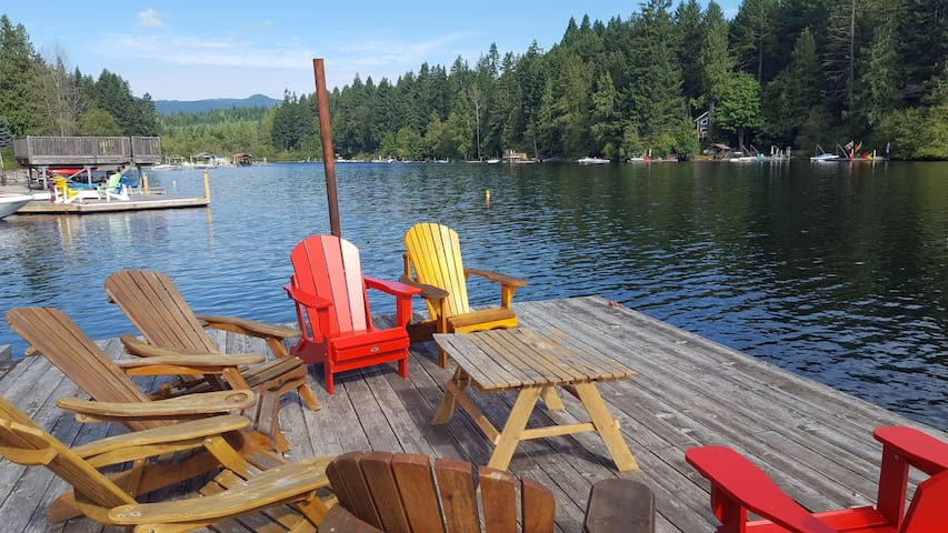 Our private dock is the perfect place to swim, splash, jump, kayak or just relax