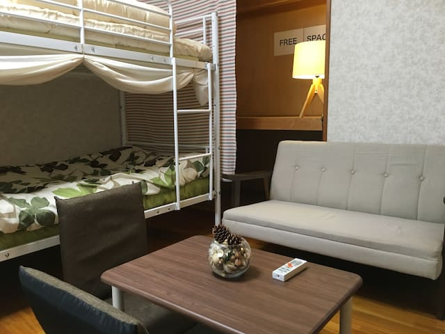 5min from Tokushima Sta. male/female mixed dorm - Tokushima - Appartement