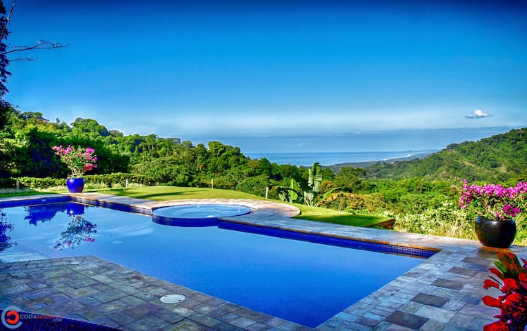 Stunning Pacific Ocean views from your own private 5 Acre Villa! Located in the exclusive community of Lagunas de Baru, where the mountains meet the sea.