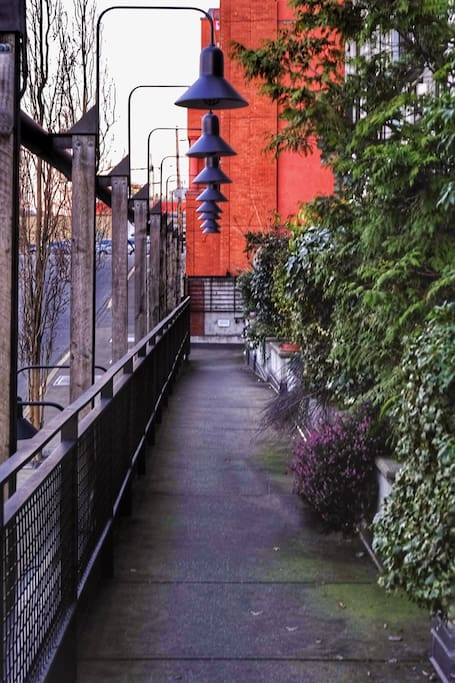 Walkway entrance to The Mermaid Wharf