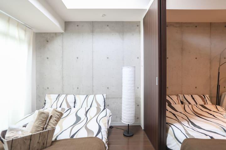 Near Namba Station Luxury Room 人気の中央区! 難波 日本橋 道頓堀 - Chūō-ku, Ōsaka-shi - Appartement