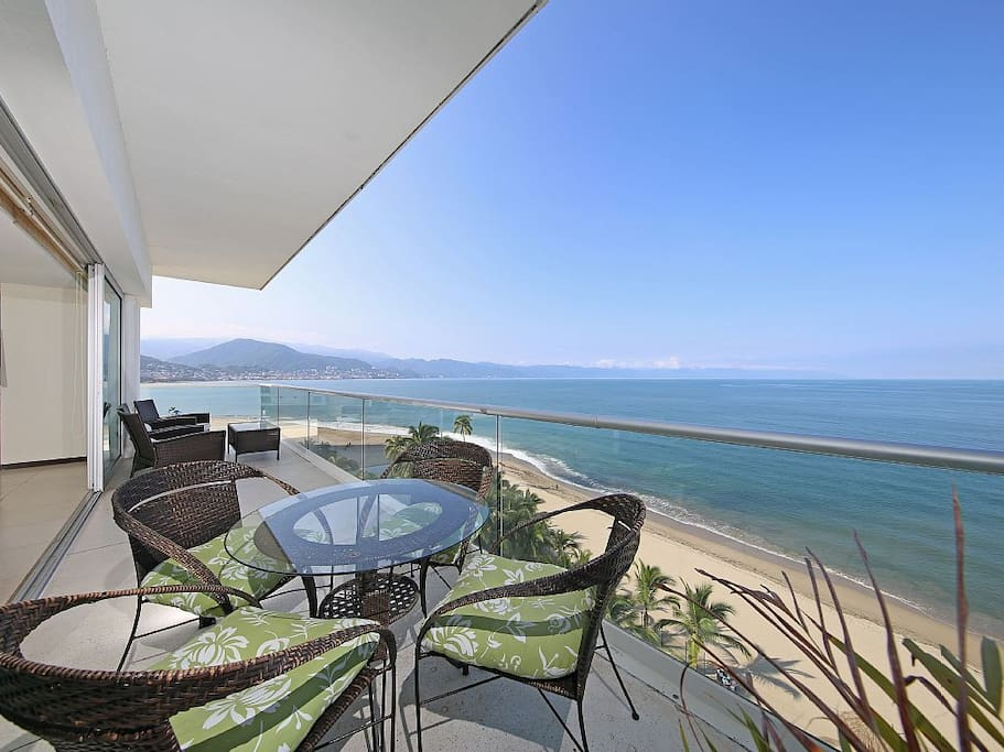 Large balcony with amazing views