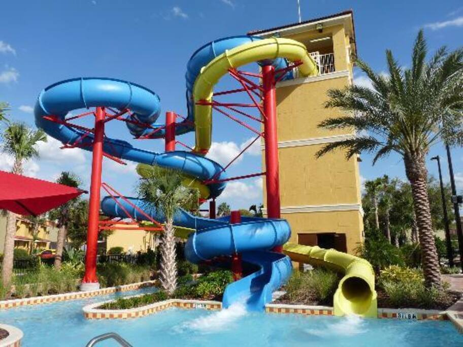 Heated water slides