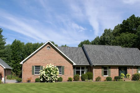 Evansville Home with a View on 5 acres