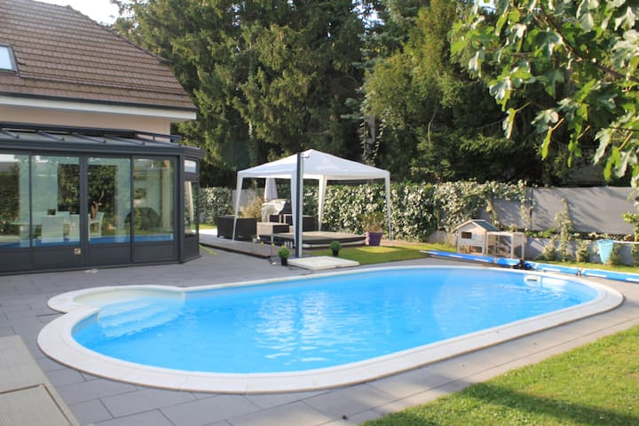 Beautiful house near Geneva, with swimming pool, - Collonge-Bellerive