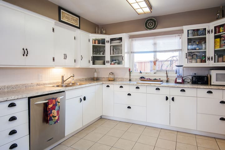 Large kitchen with everything you need to make gourmet meals.