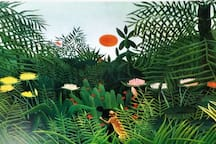 when I look at the landscape of Boquete, I often have to think of Rousseau, also when we have no leopards in Panama