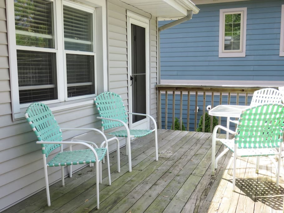 Enjoy the deck with outdoor furniture