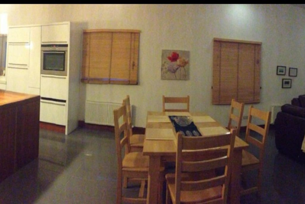 Panorama of main kitchen/living area
