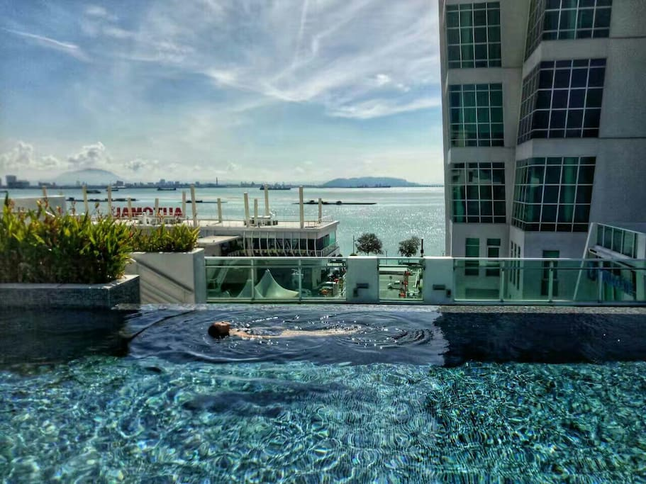 Relax at our infinity pool overlooking the ocean.