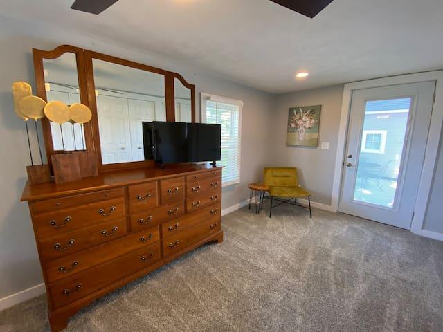 Queen Bedroom with TV