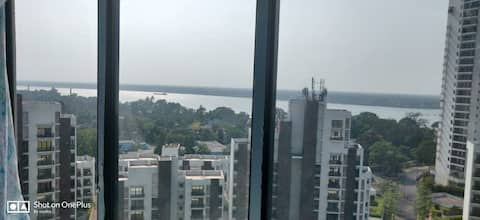 2 bhk fully furnished ganges view flat on rent