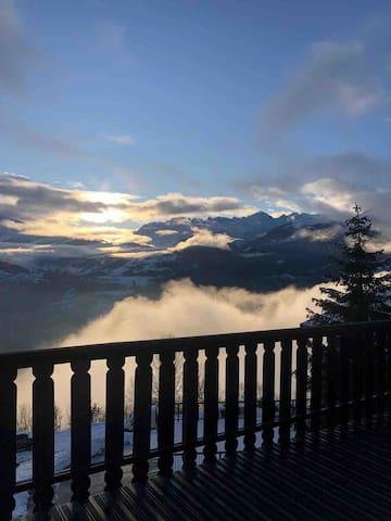 Chalet au cœur d'un village de montagne en Savoie