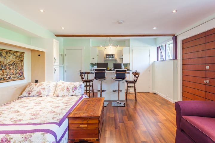 Studio Apartment Private Level Entry Sleeps 4 - Burnaby - Appartement