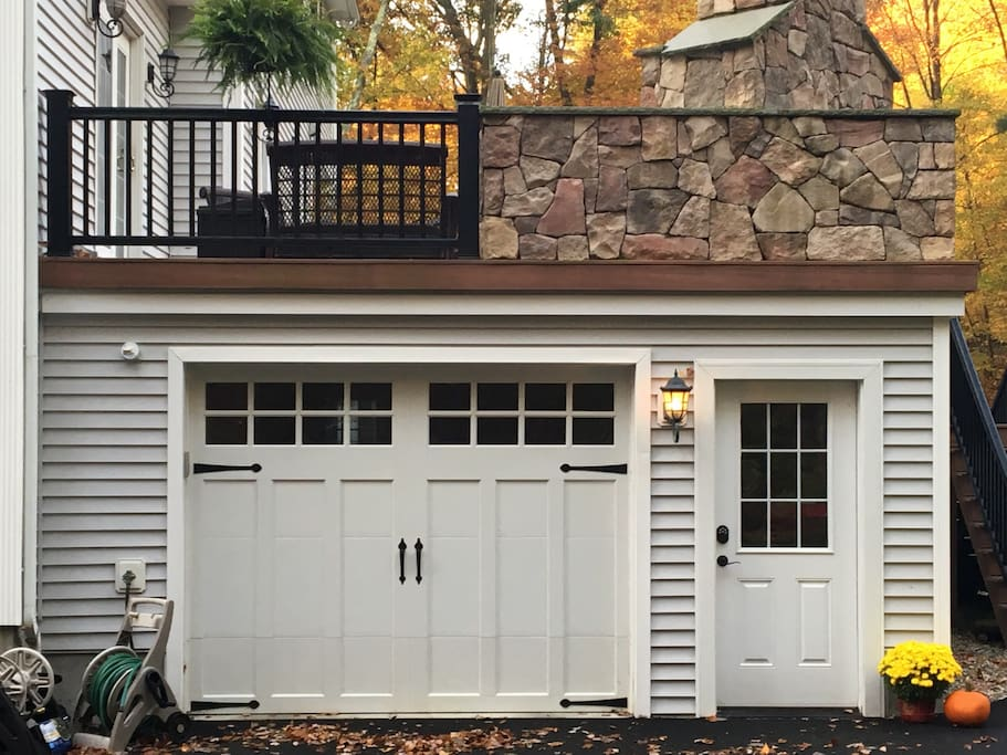 Your garage and private entrance.