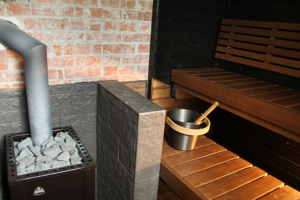 Sauna inside the cottage.