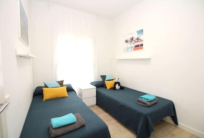 Economica habitación con 2 camas Hospital clinic