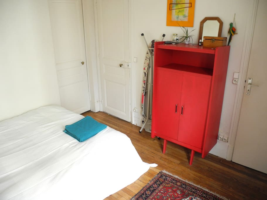 This is our favourite red closet we will empty for you to use.