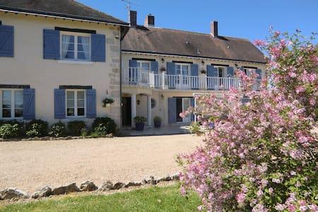 """chambre """"Brise estivale"""" à la Crémaillère - Saint-Lubin-en-Vergonnois - Bed & Breakfast"""