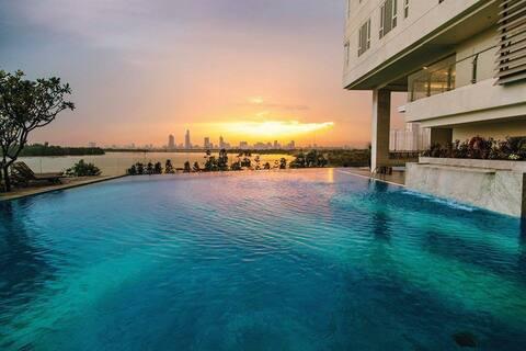 93m2 Cozy 2 bedrooms with 2000sqm saltwater pool