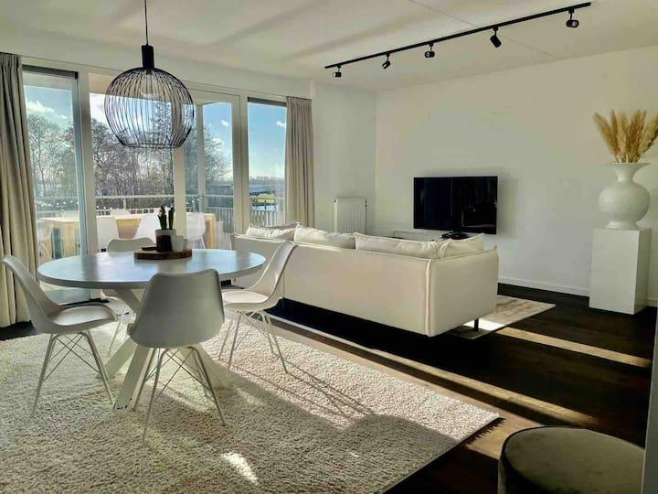 Lake side apartment near Amsterdam