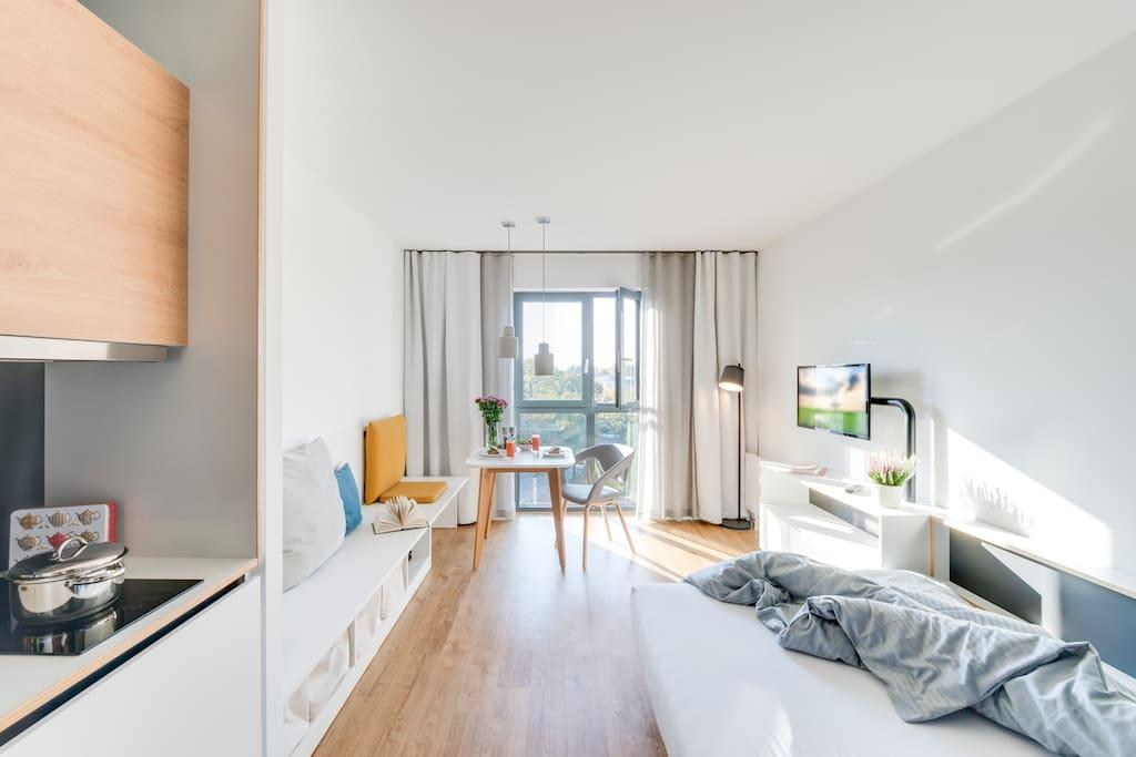 furnished studio in berlin karlshorst serviced apartments for rent in berlin berlin germany. Black Bedroom Furniture Sets. Home Design Ideas