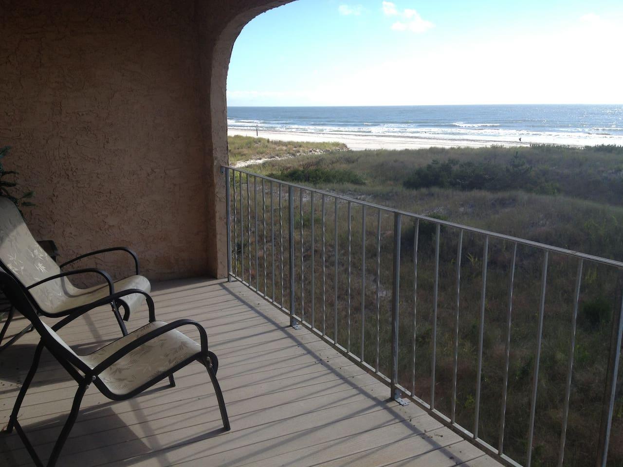 Unobstructed ocean views from Master Bedroom deck