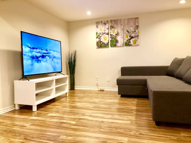 Living room with TV & Sofa Bed