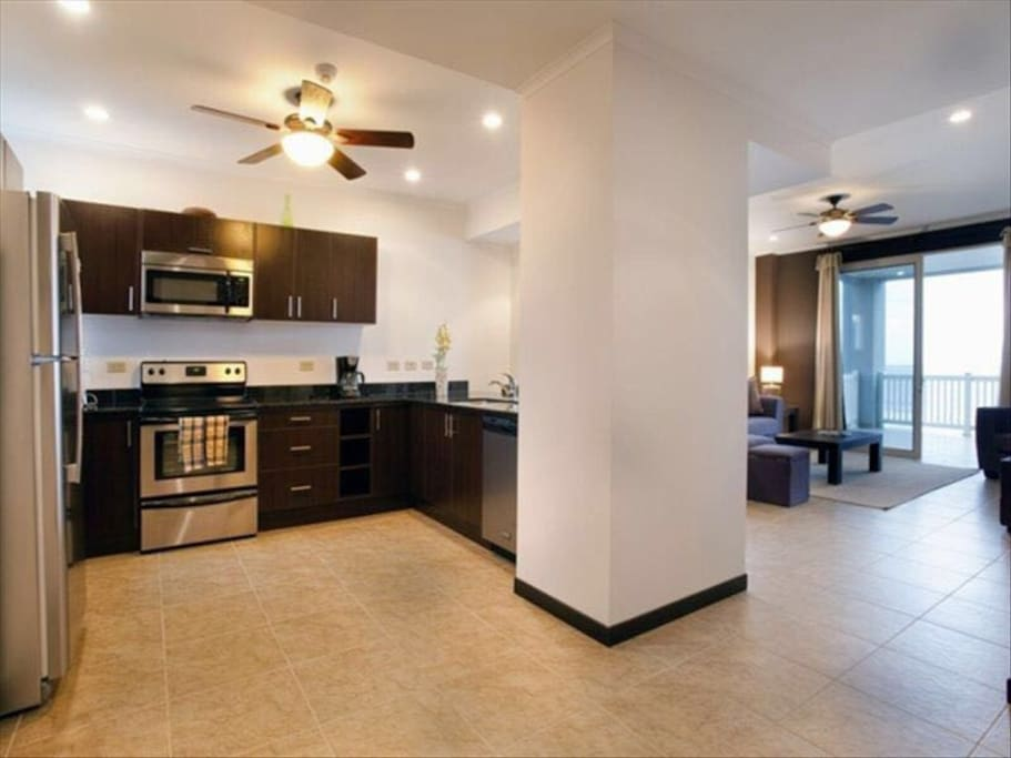 Fully stocked Kitchen with combo to Living room. Home away from home.  Promise you will not be disappointed.