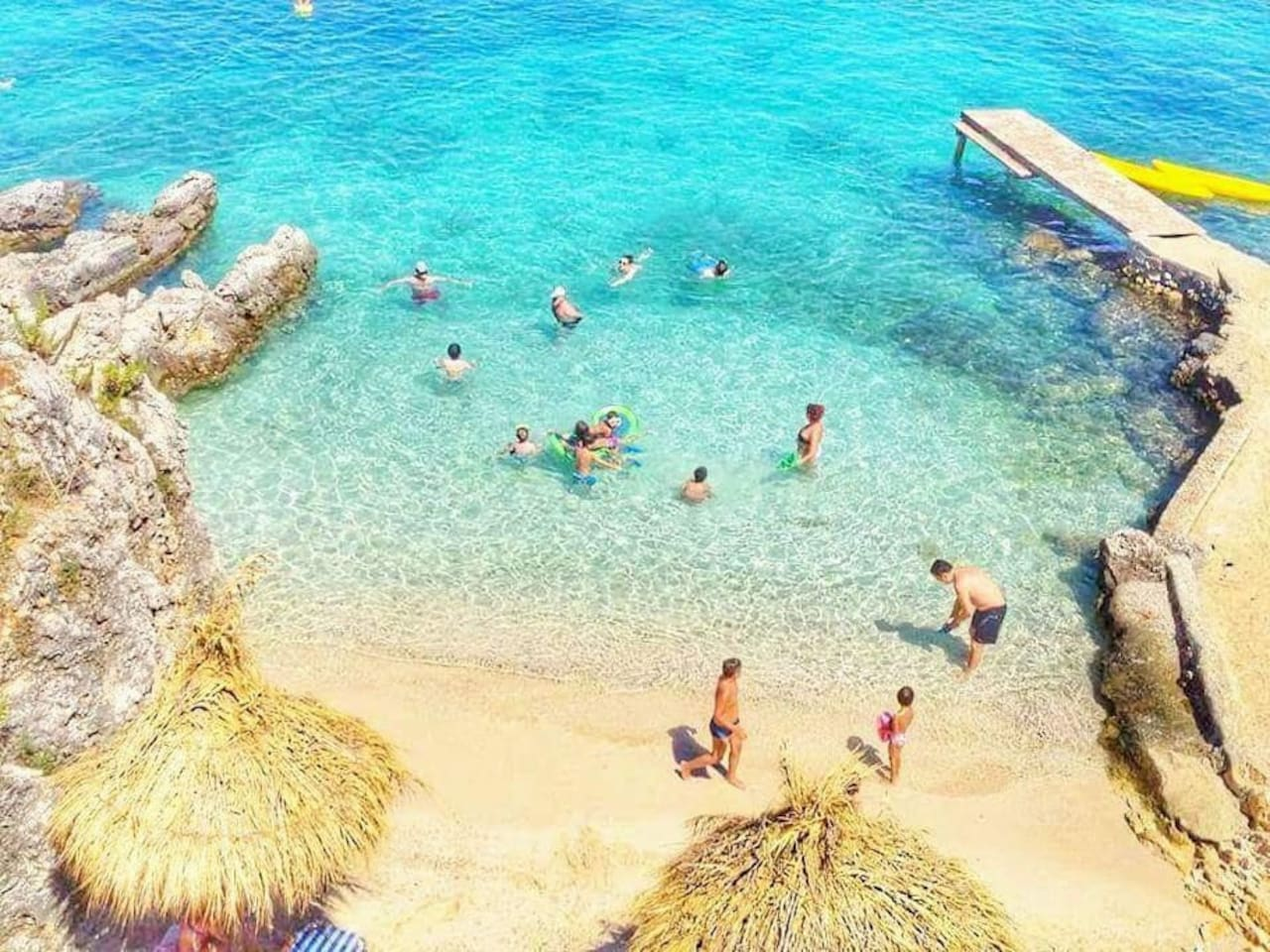 Beautiful beach close to villa