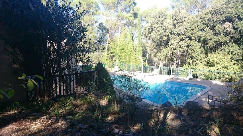 3km Montpellier N, en pinède, beau studio ds villa