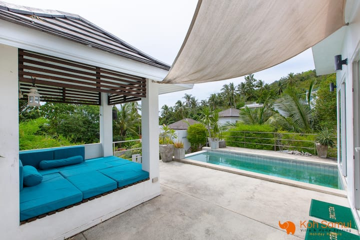 Modern 2 BR Villa, private pool, Chaweng