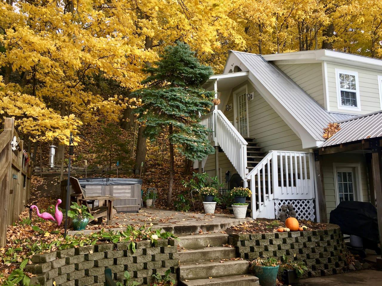 The fall brings incredible golden hues.
