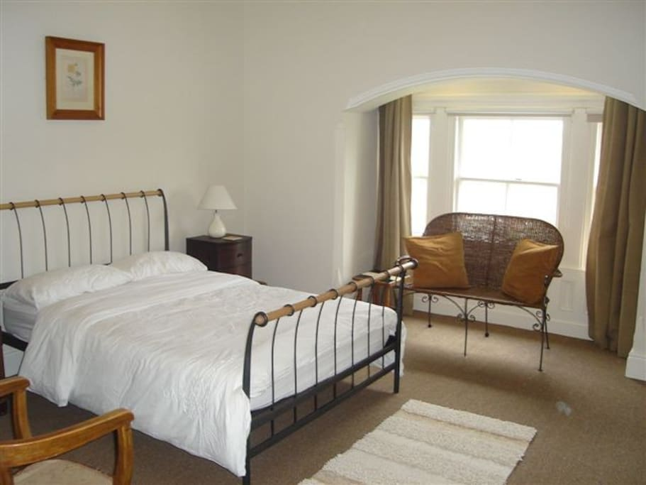 Generous room with double bed at top back - very quiet and private