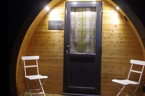 Turadh, Strathyre's first camping pods.