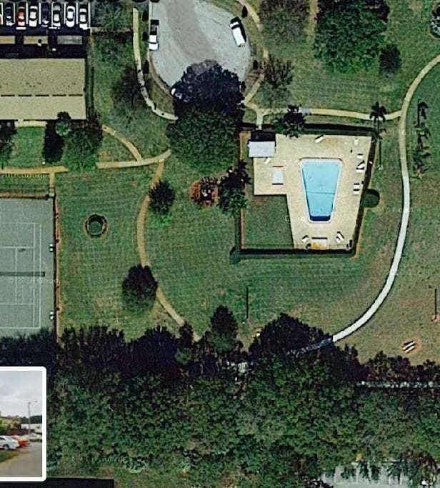Park, pool, play ground, tennis, and basket ball courts in community.