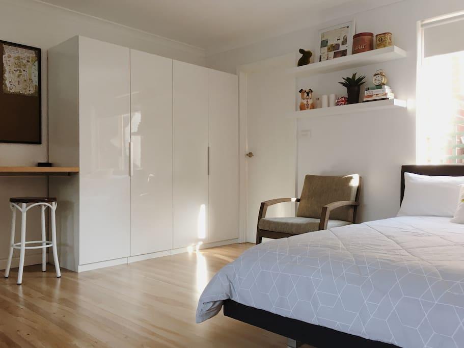 Wardrobe and storage space
