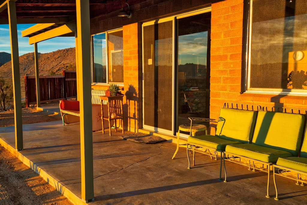 Front patio to soak in the morning sunrise