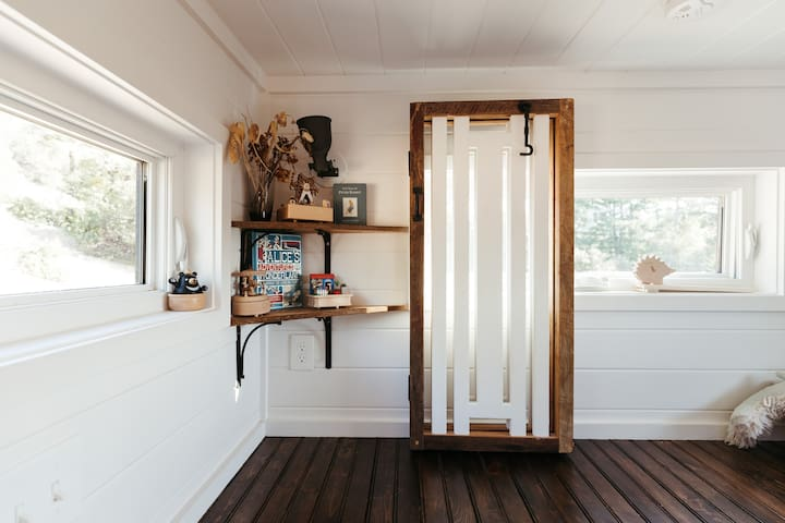 Guest loft with safety gate for young children, as well as special music boxes!
