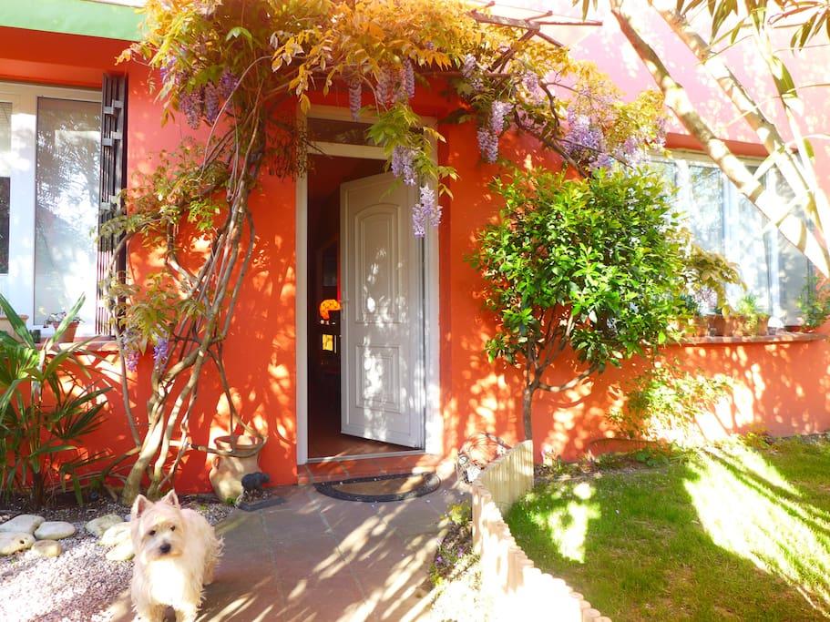 Une maison aux couleurs chaudes du sud