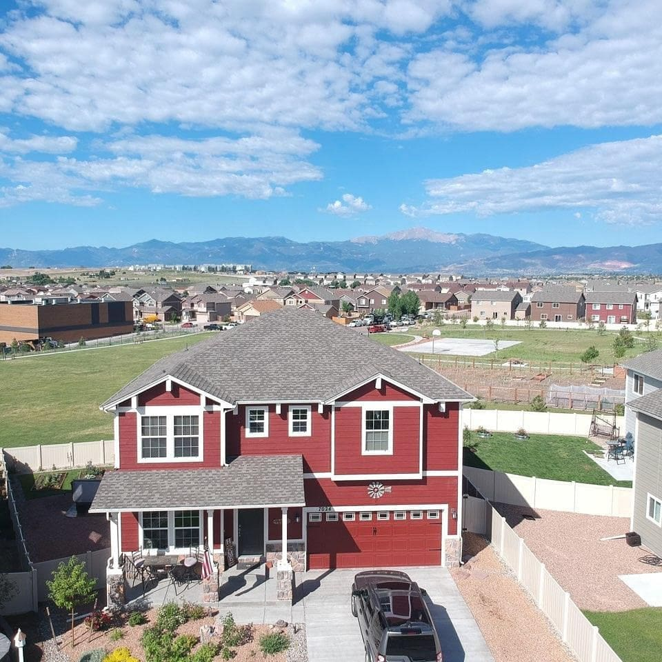 Drone View with Pikes Peak and the Front Range right out the back door!