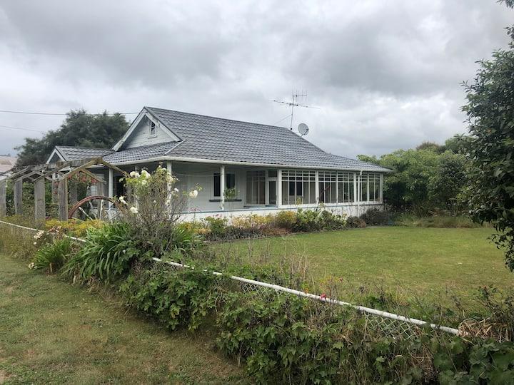 Cottage on fruit orchard
