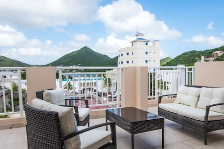 Serene panoramic views from terrace-# 4.2 - Philipsburg