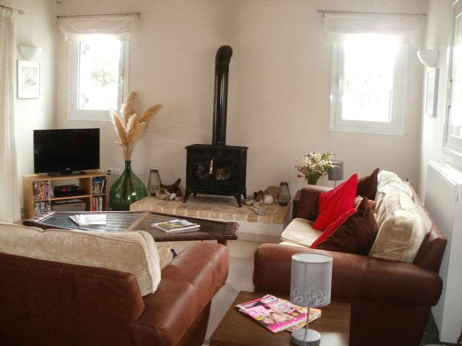 The living-room with comfortable seating